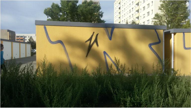 Garagenhof Halle Graffiti