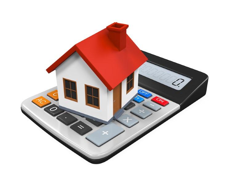 Haus auf Taschenrechner