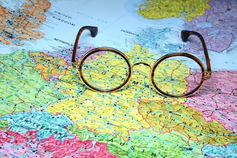 Brille auf Deutschlandkarte