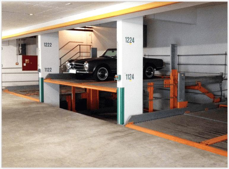 Duplex Garage mit Auto